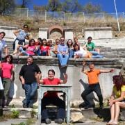 Nastopajoči v amfiteatru v Bitoli
