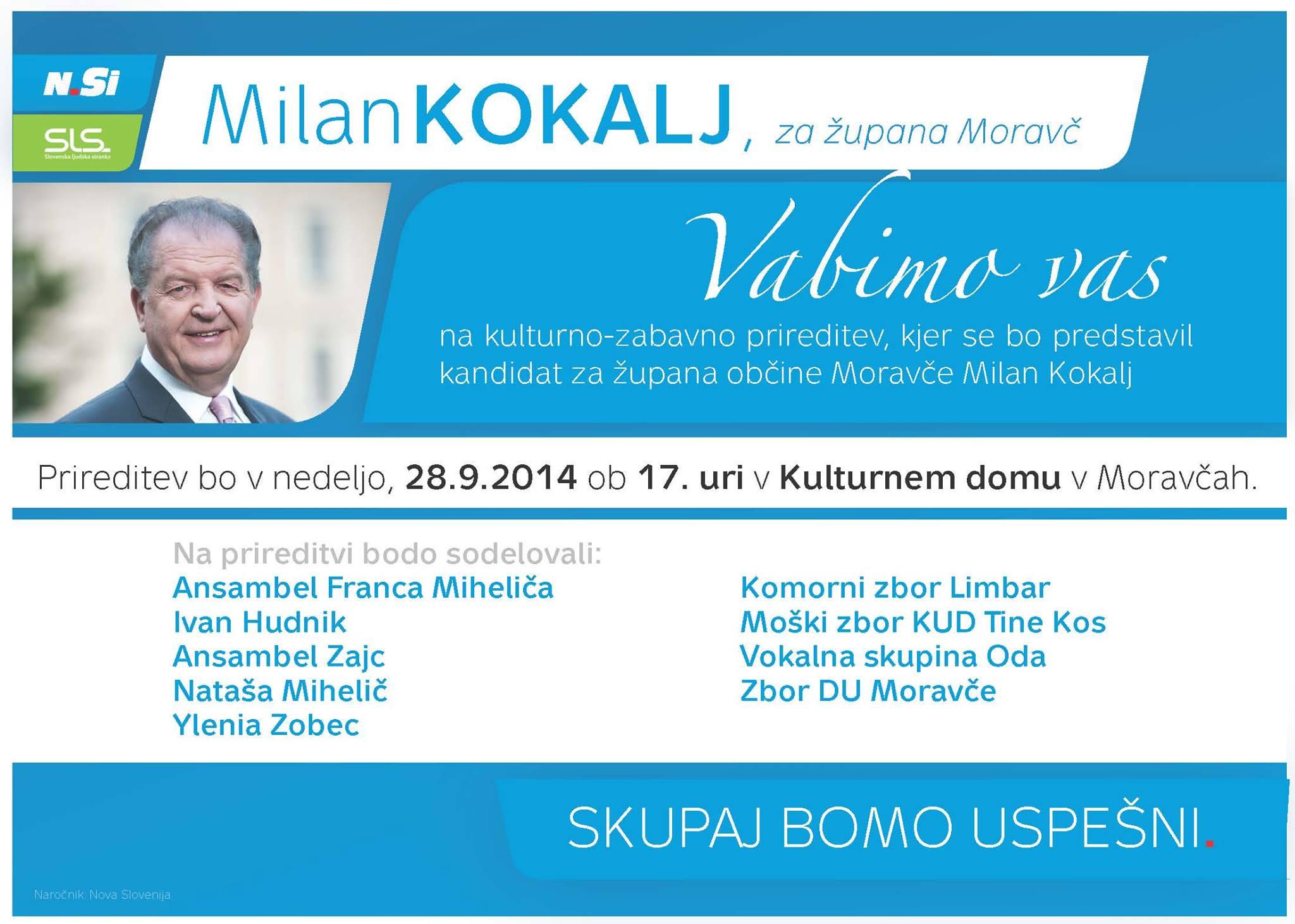 Skupaj bomo uspešni - Milan Kokalj